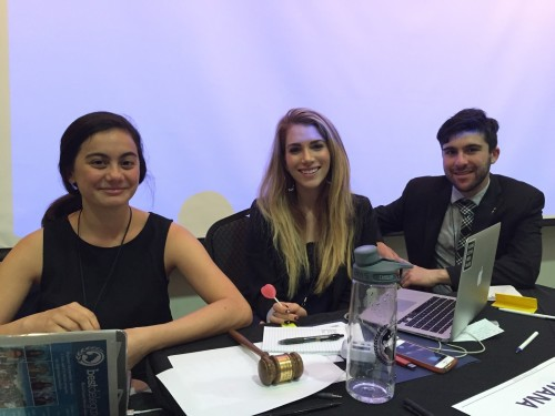 Chairs of the World Health Organization, Thanh Mai Bercher, Katie Hilton, and Ben Sher (left to right).