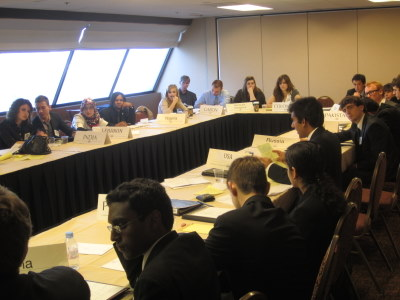 Security Council delegates listen to speeches