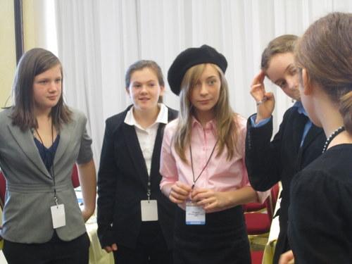 Delegate representing France rocks a beret