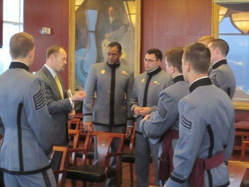 West Point's Advisor Speaks with Cadets