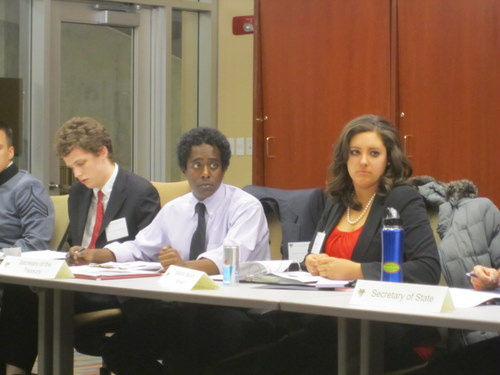 Ziggy from Columbia University and Keegan from McGill University debate in the NSC
