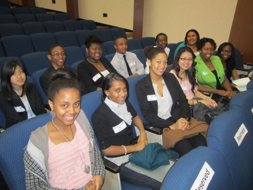 Students from Benjamin Banneker High School in Washington, DC