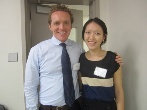 UCSD Advisor Kieran Cusack and Secretary-General Angie Chen