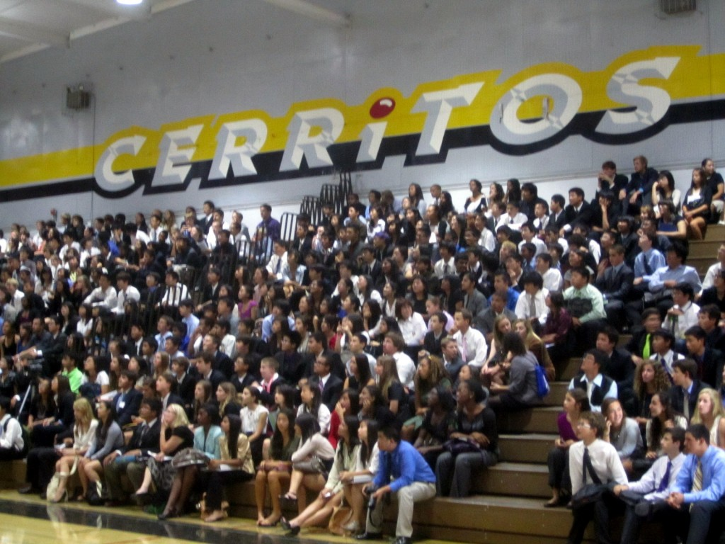Closing ceremonies took place in the Cerritos High School gym