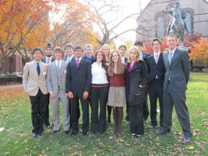 Canterbury students smile after a successful showing at BUSUN