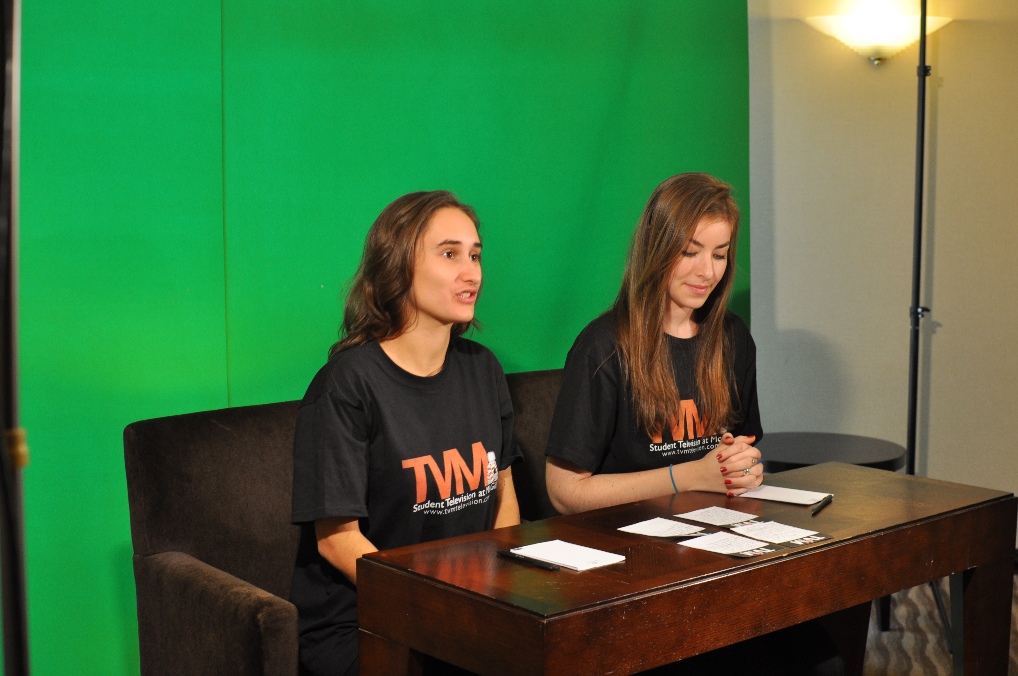 Tv Mcgill Uses A Green Screen To Film Its News Updates