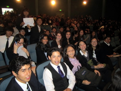 University High School delegates at closing ceremonies