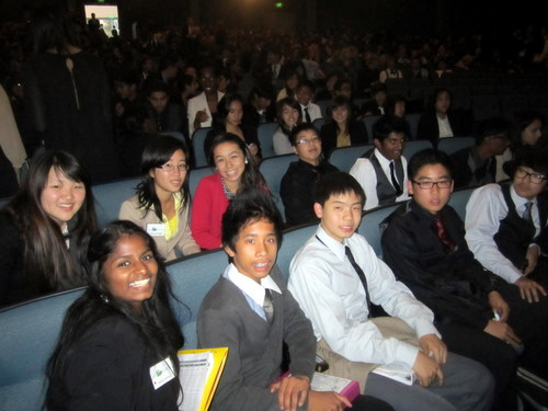 Cerritos delegates at closing ceremonies