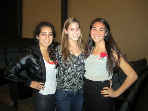 LAIMUN Secretary-General Mackenzie Austin (right) with Mira Costa alumni