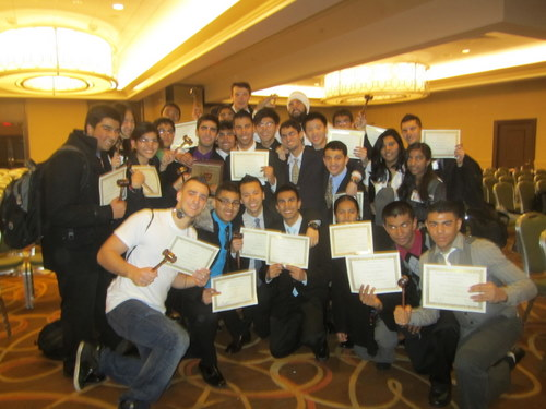 J.P. Stevens Won the Best Large Delegation Award at HMUN 2012