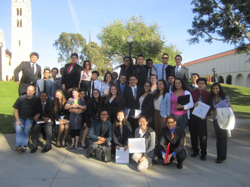 Gahr High School received a Best Small Delegation award