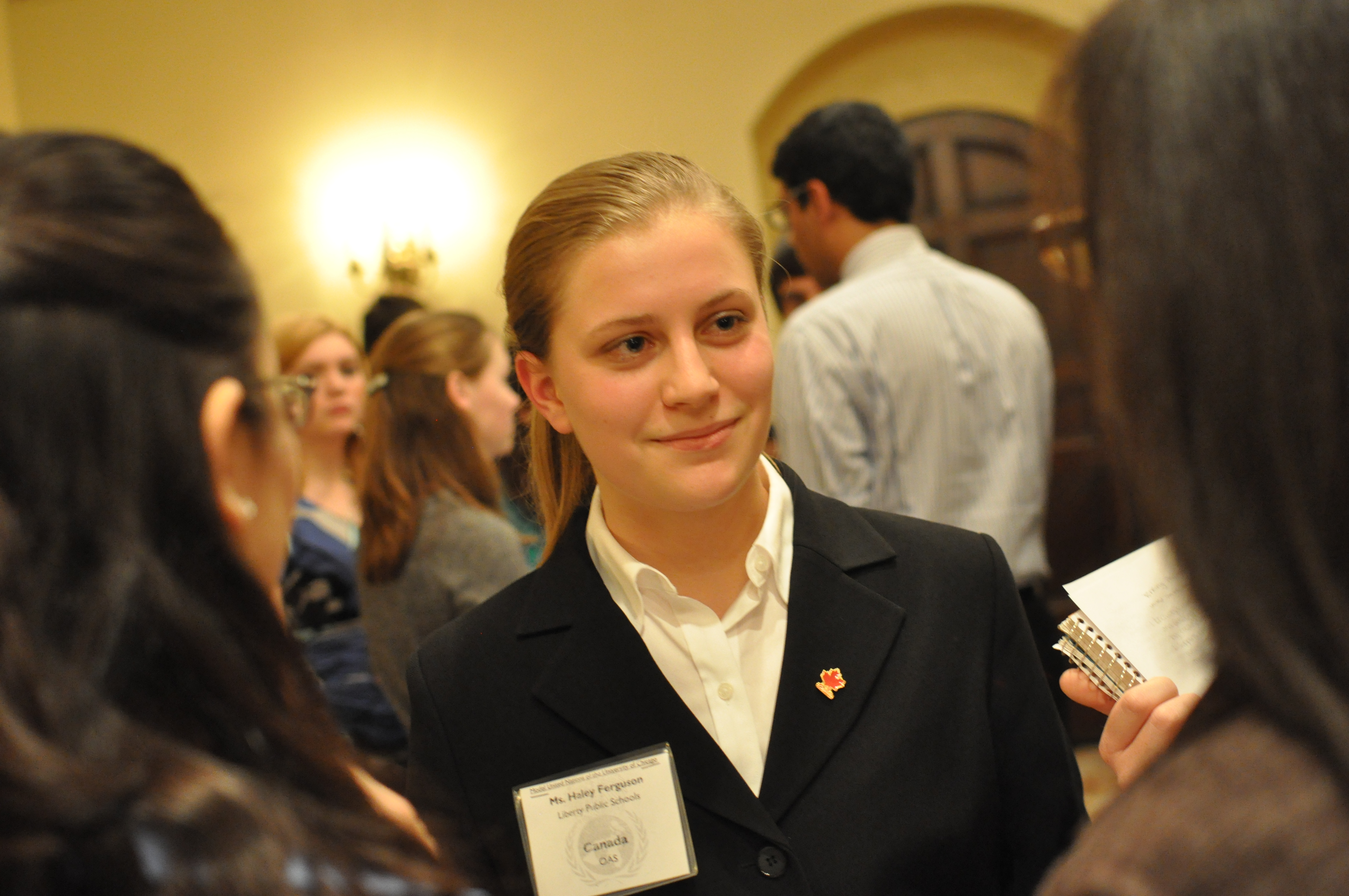 ... ) listens to other delegates during unmoderated caucus in the OAS