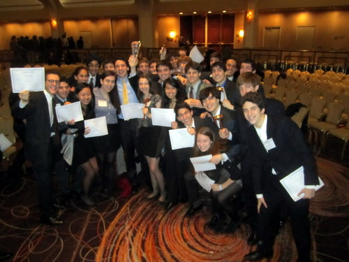 The Horace Mann School received Best Large Delegation at Georgetown NAIMUN, which was effectively this year's high school Model UN championship