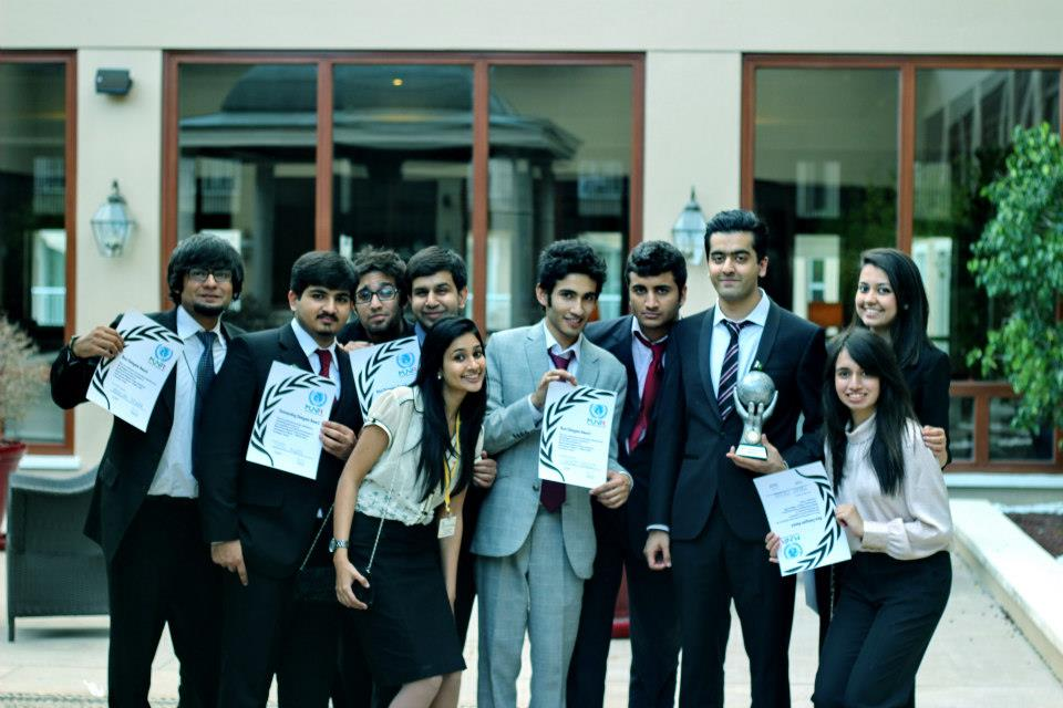 Team LUMS Pakistan Best Delegation at MUNTR 2013