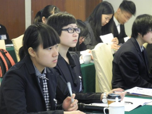 Delegates in committee at YMUN-China