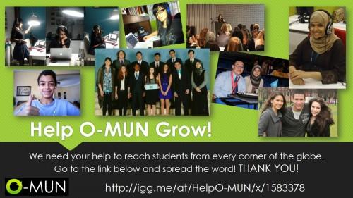 Help O-MUN Grow!