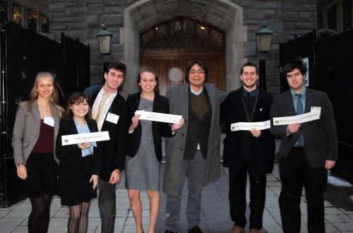 Bard delegates at WPMUNCI (from left) Melina Vanni-Gonzàlez, Alexander Echelman, Carly Krim, Brian Harris, Ian Sicurella, and Gabriel Matsakis.