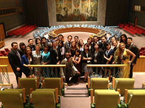Best Delegate meeting MUN leaders from around the world at the UN Workshop
