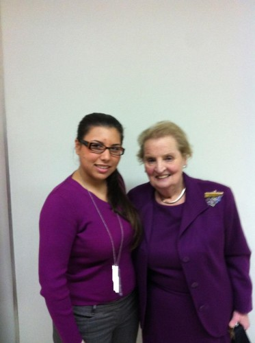 Ani with Madeline Albright