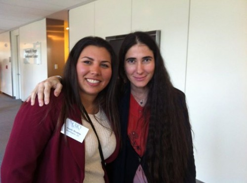 Ani with internationally acclaimed Cuban blogger,  Yoani Sanchez