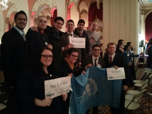 The OSU delegation at HNMUN 2013 (Photo Courtesy of Erik Leiden)