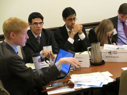Intense debate rages in the Ad Hoc committee