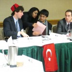 Delegates in the Turkish Cabinet respond to a crisis