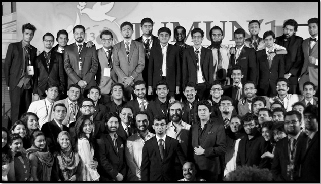IUMUN Secretariat and Host Team with the Guests.
