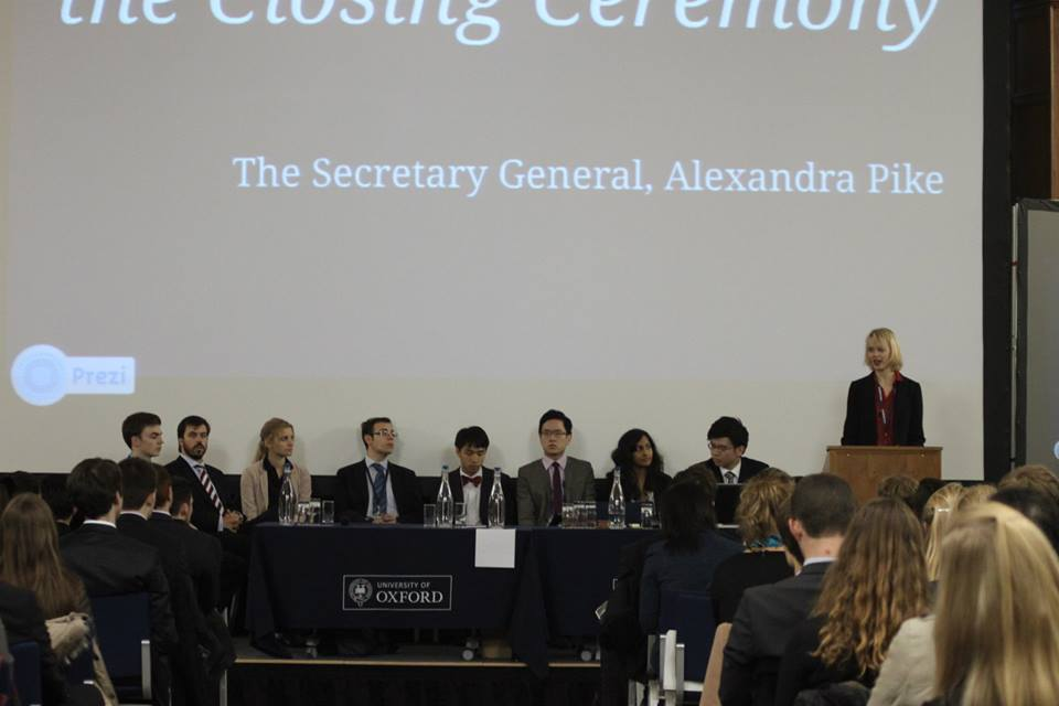 The Secretariat at the OxIMUN 2013 Closing Ceremony