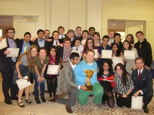 The University of Chicago team poses with their Best Large Delegation honors.