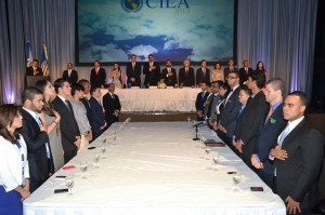 The head table at the Inauguration Ceremony and the General Committee of the General Assembly.