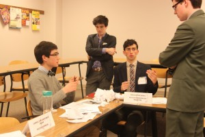 Delegates debating in Operation Condor, themed around Latin American dictators in the 1970s