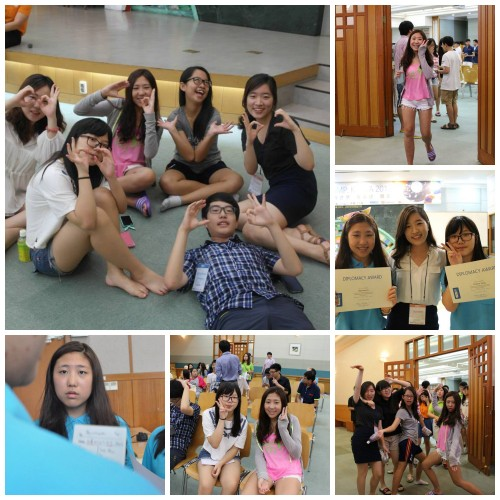 """A picture collage of Jenny Ko from the first WFUNA Youth Camp"""