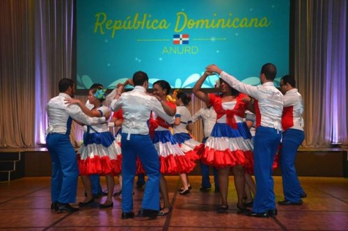 UNA-DR Staff dances to folkloric songs of the Dominican Republic during Cultural Encounter.