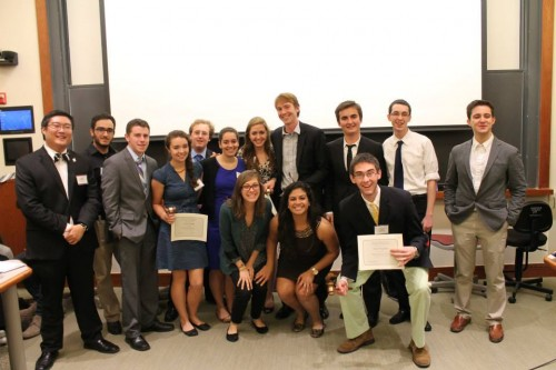 The College of William and Mary pose with their Outstanding Delegation award.