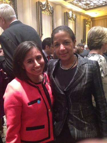 Mari with National Security Advisor Susan Rice at President Barack Obama's UNGA reception.
