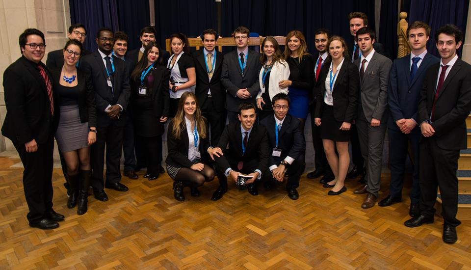 The team of Chairs and Co Chairs at NottsMUN Closing Ceremony