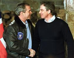 Throughout George W. Bush and Tony Blair's Bromance they also had an underlying handshake-dominance rivalry, as shown here.