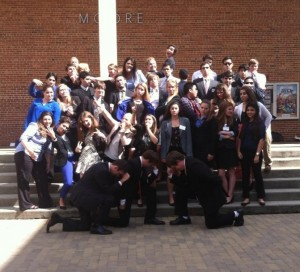 University of Florida delegates pose for a goofy picture at RTCMUNC