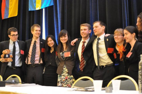 MUNUC Executive Committee shares a moment after Closing Ceremonies