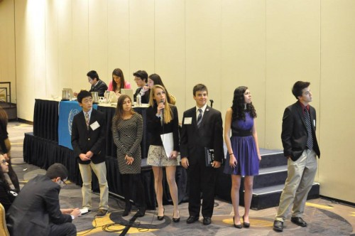 Delegates present their draft resolution in the World Health Organization