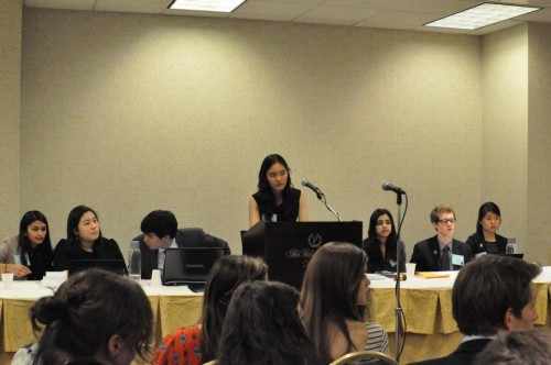 The UN Population Fund dais did a great job explaining complex concepts to delegates.
