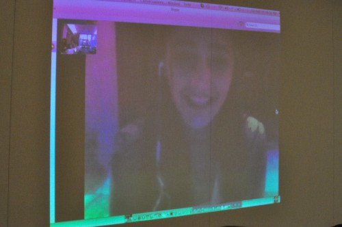 The Jordanian Cabinet Skyped in an actual Jordanian student to share her perspectives