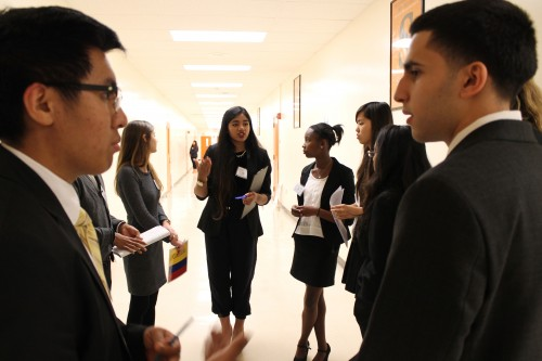 The United Kingdom (Cerritos) leads unmoderated caucus in General Assembly