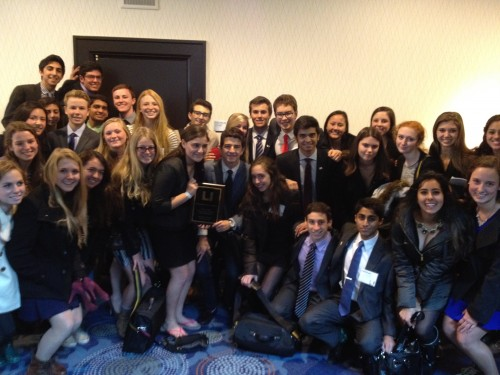 Mira Costa received the Outstanding Large Delegation