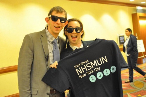 NHSMUN swag! #bluemoon