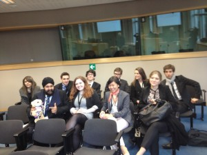 WorldMUN delegates await a brief lecture at the European Union