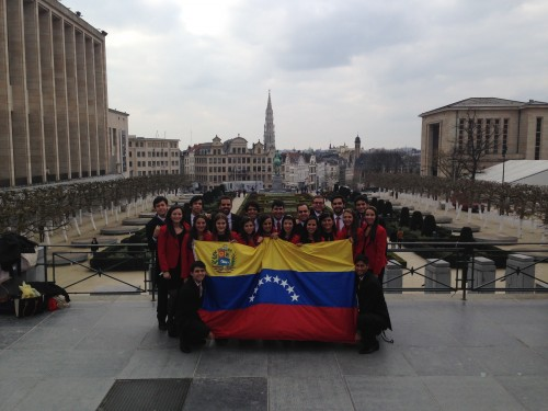 The Color Coordinated Delegation from Universidad Catolica Andres Bello (UCAB)