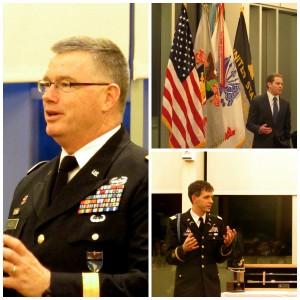 Clockwise: Major General Ricky Waddell, Dr. Scott Helfstein, and Major John Childress