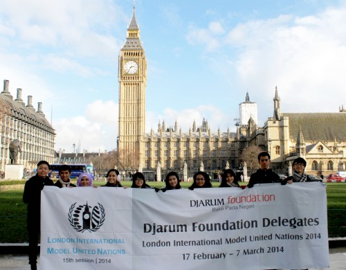Djarum Foundation Delegation for London International Model United Nations 2014